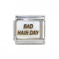 Bad Hair Day - 9mm enamel Italian charm