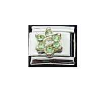 August Flower New Birthstone - Peridot - 9mm Italian charm