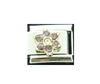 October Flower New birthstone - Tourmaline - 9mm Italian charm