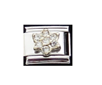 April Flower New Birthstone - Diamond - 9mm Italian charm