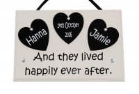 PERSONALISED And they lived happily ever after - wooden plaque