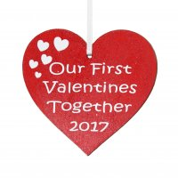 Our First Valentines Together 2017 Heart Gift Tag