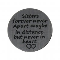 Sister Forever 22mm Plate to fit 30mm Lockets