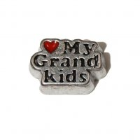 Love my grandkids 10mm floating locket charm