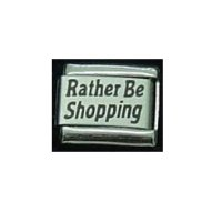 Rather be shopping - Laser 9mm Italian charm
