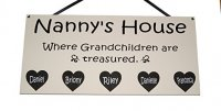 Nanny's House - Personalised Wooden Wall Plaque - Mother's Day