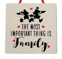 The most important - Disney - Handmade Wooden Plaque