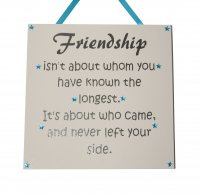 Friendship isn't about whom - Granite Handmade Plaque