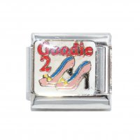Goodie 2 shoes - enamel 9mm Italian charm