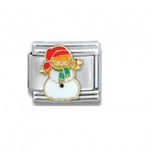 Garfield snowman Christmas - 9mm Italian charm