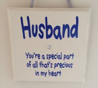 Husband you're a special part - wooden plaque