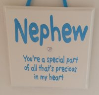 Nephew - You're a special part - Handmade wooden plaque