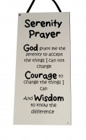 Serenity Prayer - Handmade wooden plaque