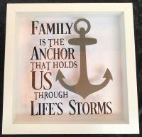 Family is the anchor that holds us through life.... - box frame