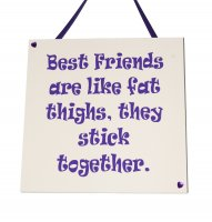 Best Friends are like Fat Thighs - Purple - Handmade plaque