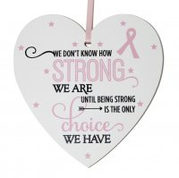 We don't know how strong breast cancer .. small 9cm wooden heart