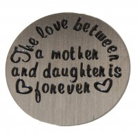 The Love between Mother/Daughter 22mm Plate to fit 30mm Lockets
