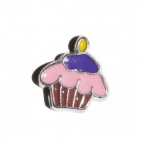 Cupcake 7mm floating locket charm