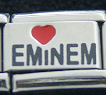 Love Eminem Red heart laser Italian charm