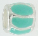 EB384 - Turquoise and silver bead