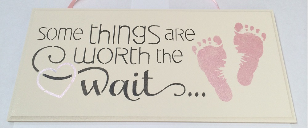 951c0c4bef06 Some things are worth the wait - pink - new baby Girl - £7.99 ...